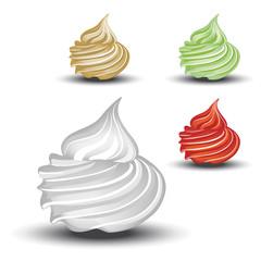 Vector whipped cream
