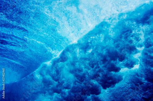 Leinwanddruck Bild Water Texture Under Water