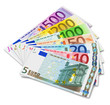 Set of Euro banknotes