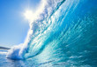 Leinwanddruck Bild - Blue Ocean Wave