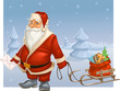 Santa Claus with sled
