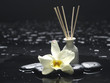 aroma therapy objects. Reed Diffuser with orchid, stones