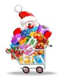 Carrello Spesa con Babbo Natale-Santa Claus on Shopping Cart
