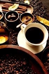 コーヒーカップとスパイス