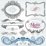 Ornamental  decoration design elements.