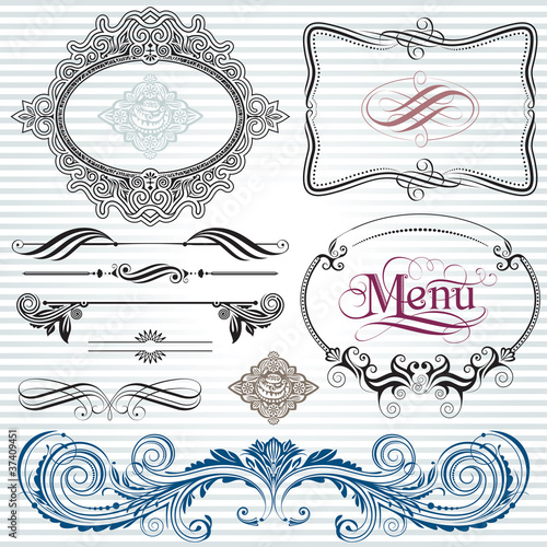 Ornamental  decoration design elements.