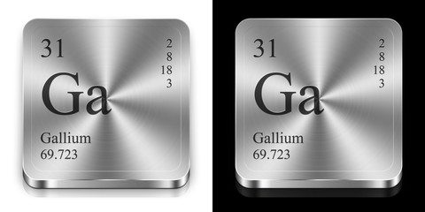Gallium, two metal web buttons