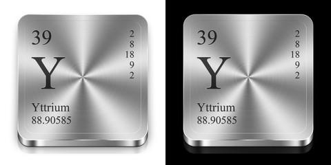 Yttrium, two metal web buttons