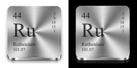 Ruthenium, two metal web buttons