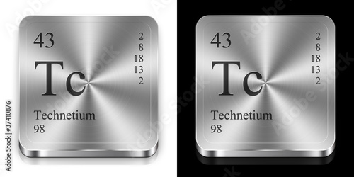 Technetium, two metal web buttons