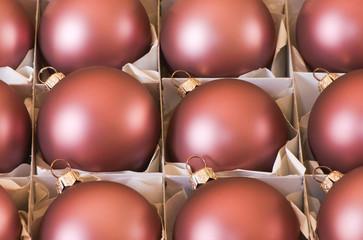 Bolas de Navidad rojas