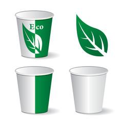 vector eco paper cups