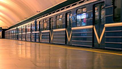 train at the underground station