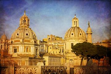 Colonna traiana e chiesa di San Loreto, Roma