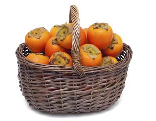 basket full of persimmons