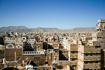 Views of Sanaa, Yemen.