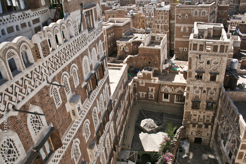 Typical yemeni architecture, Sanaa (Yemen).