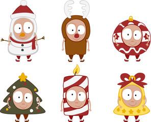 christmas kids set 2 - vector
