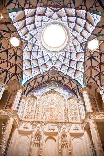 Foto op Plexiglas Wand Dome of Historic old house , Kashan, Iran