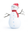 snow men santa hat