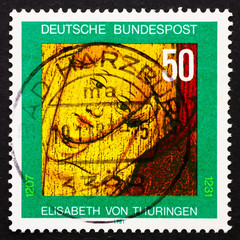 Postage stamp Germany 1981 St. Elizabeth of Thuringia