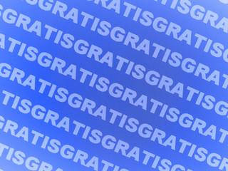 Gratis, Diagonale Schrift