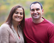 Hispanic couple outdoor portrait