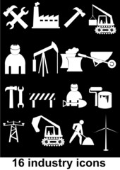 16 industry icons (vector)