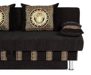 crop of sofa with Decorative pillow