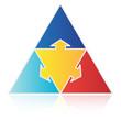 Pyramid with Outward Arrows