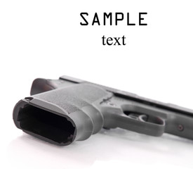 Unloaded Hand Gun with Space for Text