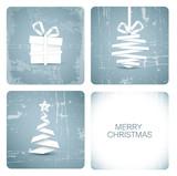 Fototapety Simple vector grunge christmas card