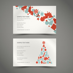 Set of vector christmas / New Year cards