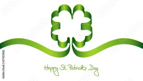 "Green Clover-Leaf ""Happy St. Patrick´s Day"""