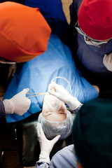 Female patient in surgery