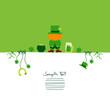 Card Standing Leprechaun & Symbols