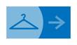 signe, symbole, picto, logo, flèche, vestiaire, pressing