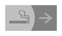 Znak, symbol, piktogram, logo, strzałki, palenie papierosów,