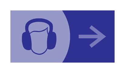 signe, symbole, picto, logo, flèche, audio, son, casque
