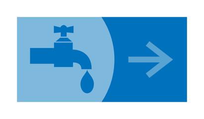 signe, symbole, picto, logo, flèche, robinet, plombier, eau