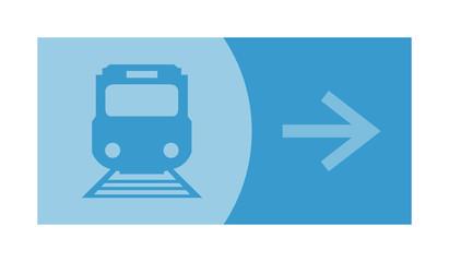 signe, symbole, picto, logo, flèche, tramway, train, transport