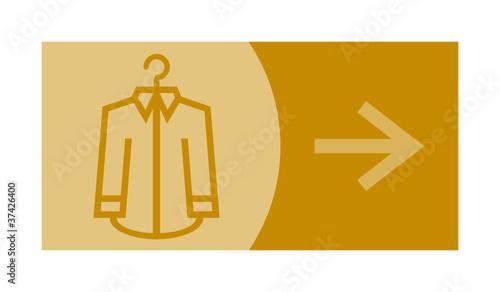 signe, symbole, picto, logo, flèche, pressing, mode