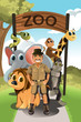 Zookeeper and wild animals