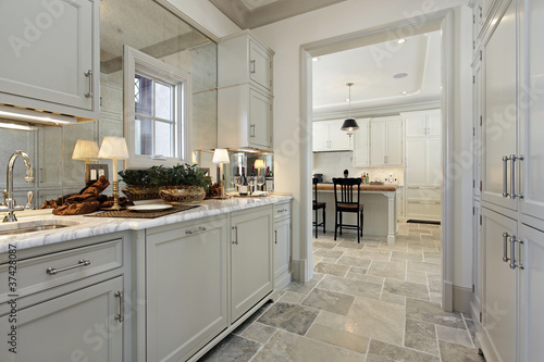 Pantry in luxury home