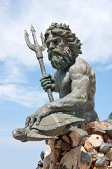 Large King Neptune Statue in VA Beach