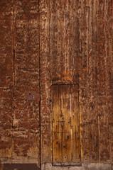 Ancient wooden door