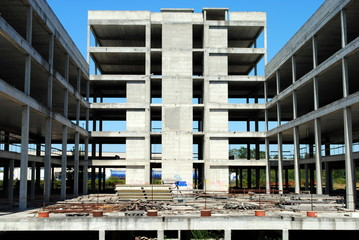 building under construction, abandoned incomplete
