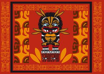 totem tribal sculpture dieu frise croyance