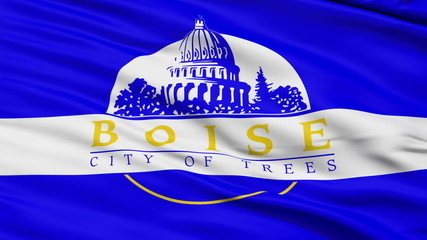 American State City Flag of Boise Idaho