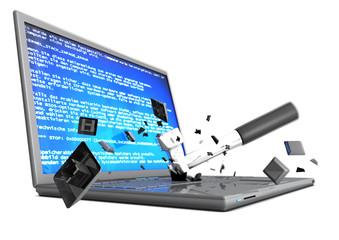 Computer-Fehlermeldung-Schaden